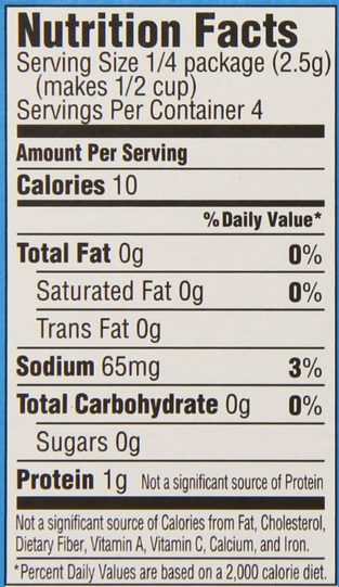Diet jello nutrition facts