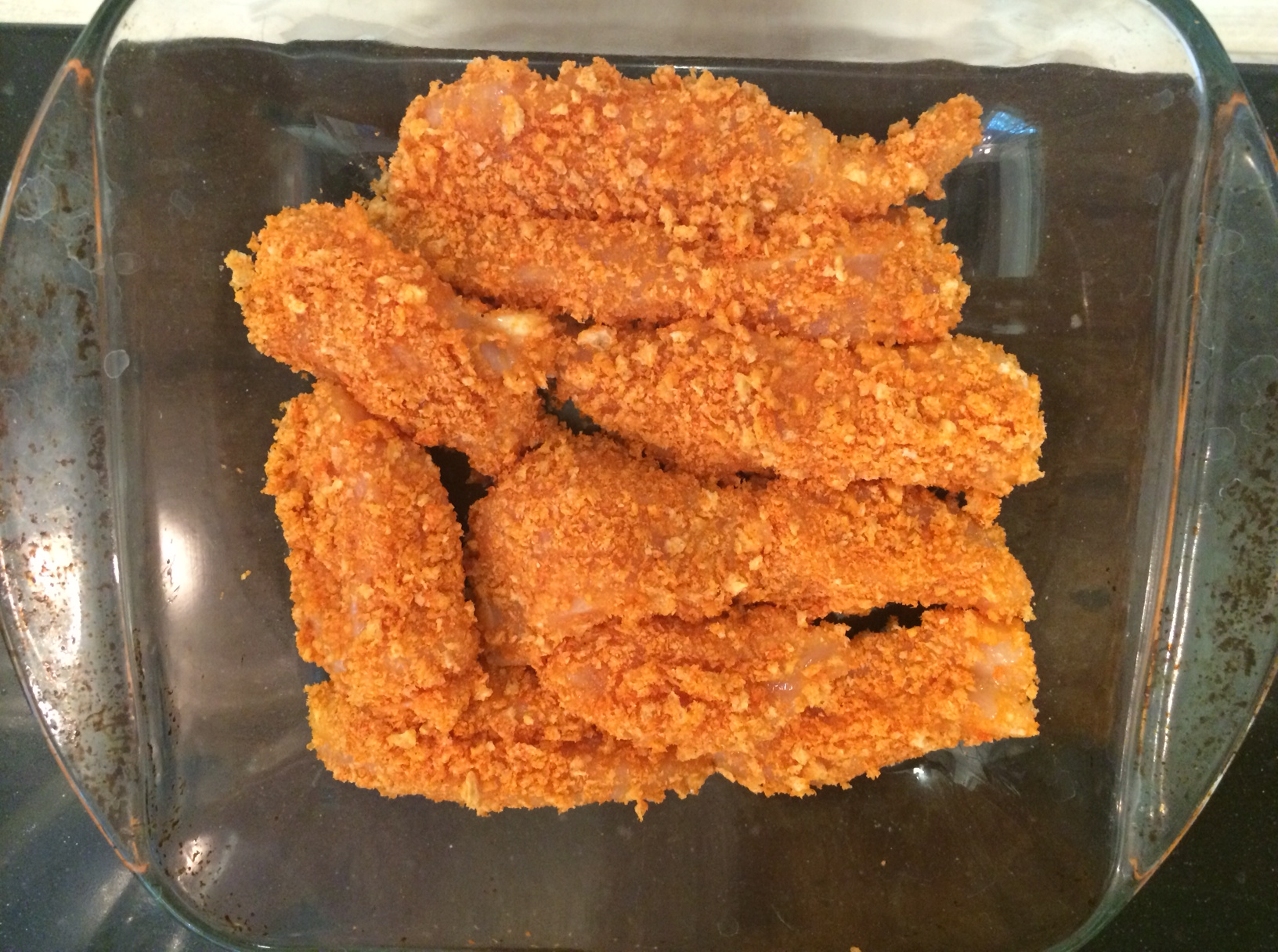 Keto Low Carb Spicy Crispy Chicken Strips Complete Keto